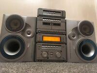 Sony 5 disc MHC NX3AV stack system seprates