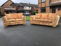 Lovely NEXT Pillow Back 3 Seater & 2 Seater Sofa Suite + Free Delivery