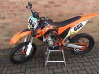 Ktm 85 B/W 2013 race spec many after market parts pos px kx crf cr Yz Yzf rm Mx trials enduro