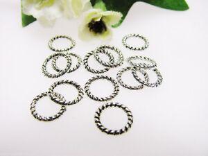 20 Verbinder 7,5 mm, silber, Schmuck und Ketten herstellen, Perlen basteln Ringe