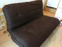 Tosa 2 Seater Futon Sofa Bed chocolate brown