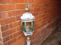 Ornate Aluminium Outdoor Lamp (needs updating) 4ft Tall