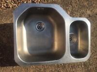 Kitchen sink 1 & 1/2 bowls