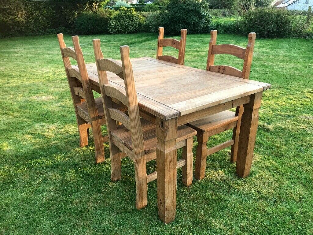 NOW SOLD. Solid Pine Dining Table and Chairs | in Cam ...