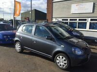 2004 54 Toyota Yaris 998cc 5 door 50+ mpg fsh cd player 12 months mot 3 months warranty