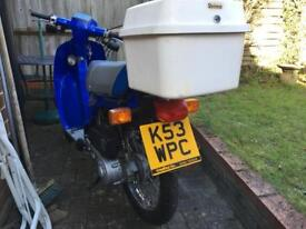 Moped 49cc, owned 4 years, never used, m o t till April 2019, twist and go, spares and Haynes manual