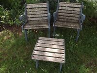 Cast Iron Garden Chairs and Table
