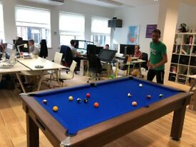 Large Desk Space in North Laine Office with Pool Table