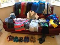 Large Bundle of Boys Clothes Age 4-5. 35+ items. Lots of Next but also Adidas, Haviana. VGC