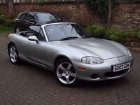 EXCELLENT EXAMPLE!! 2003 MAZDA MX5 1.6 LIMITED EDITION NEVADA ROADSTER CONVERTIBLE LONG MOT WARRANTY