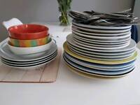 plates bowls and cutlery for free