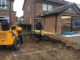 Mini Digger & Opertor for Hire