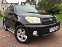 *12 MTHS WARRANTY*2004(54)TOYOTA RAV 2.0 SUV XT3-VVTI LIMITED EDITION 5DR WITH FULL LEATHER SUNROOF*