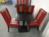 50 chairs with square and rectangular tables