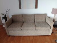Comfortable 3 seater sofa in good condition - to be collected from Salford Quays