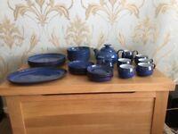 Derby midnight design tea set and dinner service