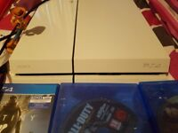 Ps4 white 500gb 2 remote controls 24 games. May swap for a good phone s8 or iphone 8