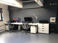 Photographic studio / creative workspace / desk space to rent – natural light – available now