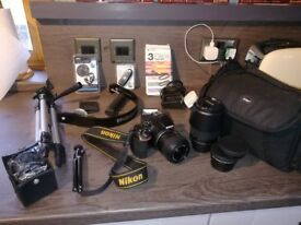 Nikon D5500 Digital SLR Camera - LENSES - PLUS EXTRAS - VIEW NOW