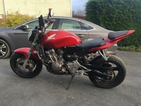 Honda hornet 600 low mileage with all mot's, scorpion can great condition for age