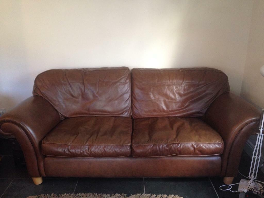 Mortimer Leather Sofa From Laura Ashley In Llandaff