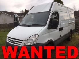 IVECO DAILY ANY CONDITION VAN WANTED