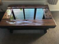 LARGE COFFEE TABLE MADE WITH RAILWAY SLEEPERS
