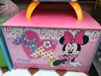 Disney Minnie book case and storage box
