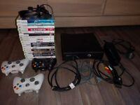 Xbox 360 elite and 18 games