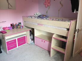 Girls mid sleeper bed / great condition