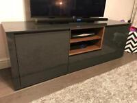 Next grey gloss large tv unit