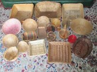 Assorted Baskets - Various Sizes - Ideal for craft fairs, shop display, church fetes etc