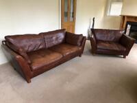 Leather sofa & Love seat
