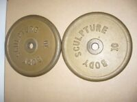 Weight lifting plates 2 X Body Sculpture Professional 10kg Weight Plates