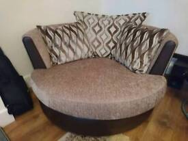 DFS large swivel chair hardly used