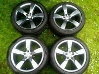 19 inch 5x112 genuine Audi A4 TTRS ROTOR HALLOW SPOKES alloys wheels