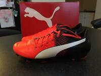 Puma Mens evoPOWER 2.3 FG Football Boots Red/White/Black, UK 8