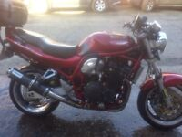 Good honest bike no problems with new front tyre full year mot