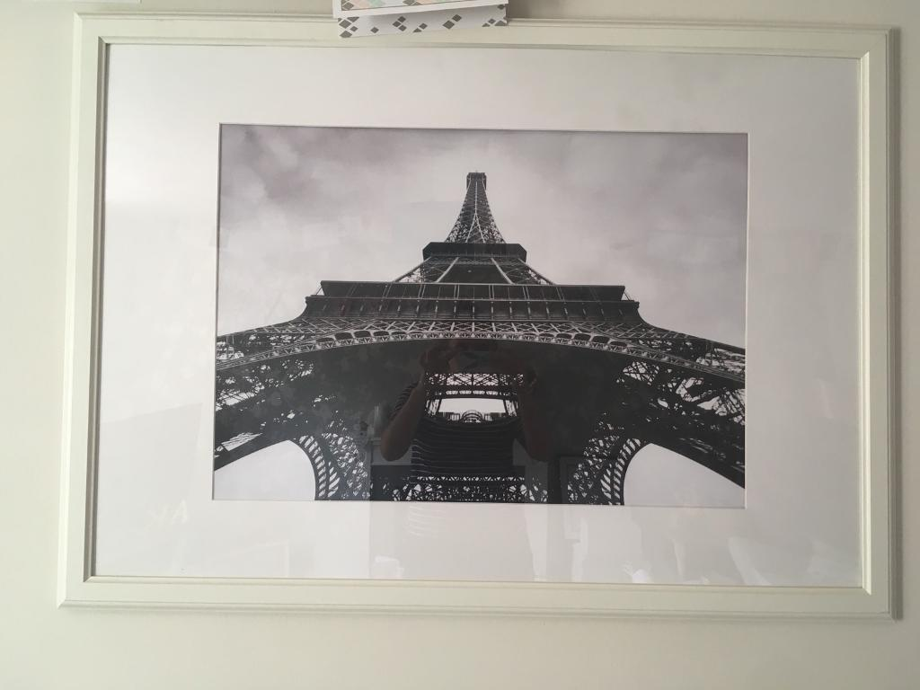 Eiffel Tower print and photo frame