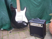 Elevation Electric Guitar and Practic Amplifier full size.