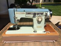 Vintage Brother Sewing Machine - Year 1968 - Full Working Condition - Beautiful Model
