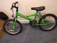 "Raleigh ride children's bike suit 4-7 yo. 12"" frame 16"" Wheels. Newly serviced."