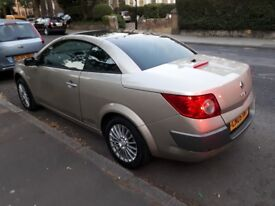 2005 Renault Megane Convertible 1.6 Petrol Automatic MOT and tax