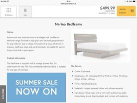 Black bed for sale