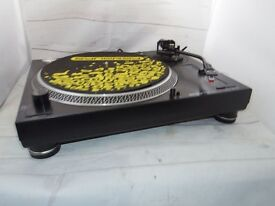 """direct drive turntable record deck with flight case and 30 x house 12"""" vinyl records"""