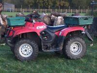 2004 Suzuki eiger 400cc 4x4 farm quad Atv
