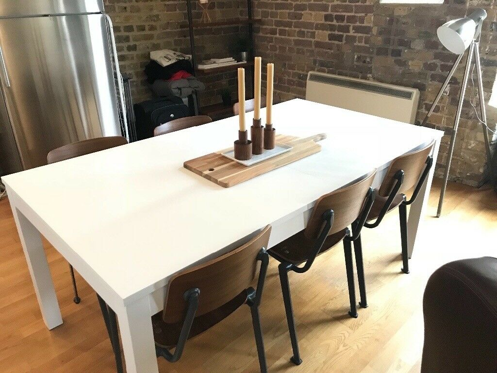 Ikea Bjursta Extendable White Dining Table Seats 10