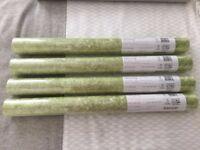 4 x rolls of Designers Guild wallpaper Moss. Green. Cost £284