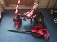 Black and pink trike