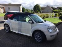 Harvest moon beige VW Beetle convertible/cabriolet low miles 68k and Excellent history